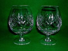 "PAIR ROYAL DOULTON GEORGIAN PATTERN 5"" BRANDY GLASSES SNIFTER Excellent Cond 