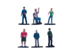 Greenlight Muscle People Pack 6pc Set Series 1 For 1/64 Diecast Models by Greenlight - Lady. Business Man. Delivery Man. Police Man. Vacation Man. Man Sitting Down. Comes in a blister pack. Made of high quality resin. Limited edition production run. Brand new Delivery Figure tooling. Perfect for your 1:64 dioramas.-Weight: 3. Height: 8. Width: 15. Box Weight: 3. Box Width: 15. Box Height: 8. Box Depth: 7