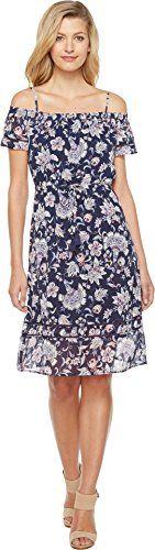 Lucky Brand Cold Shoulder Dress (Navy Multi) Women's Dress Evening Dresses, Summer Dresses, Street Style 2017, Summer Fashion Trends, Lucky Brand, Vintage Dresses, Dress Skirt, Cool Outfits, Strapless Dress