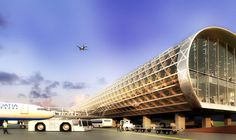 Shigeru Ban Architects (SBA)_Zagreb Airport New Terminal Competition Round Building, Building A House, Airport Design, The Future Is Now, Modern Materials, Science And Nature, Modern Architecture, Transportation, Shigeru Ban