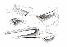 Audi E-Car concept detail Sketch