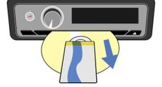 retirer un CD coincé dans le lecteur de CD d'une voiture