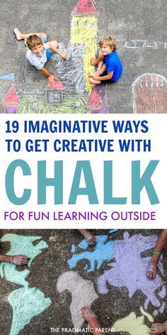 Ditch screentime this Summer with these 19 fun chalk art ideas. 19 Imaginative Ways to get Creative with Chalk and take learning outdoors including chalk mazes, chalk games, chalk pictures, chalk game boards, chalk math and more! Preschool Behavior, Toddler Behavior, Peaceful Parenting, Gentle Parenting, Happy Mom, Happy Kids, Parenting Articles, Parenting Hacks, Chalk Pictures