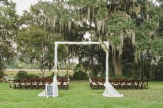 Flower And White D Wedding Arbor Magnolia Plantation In Charleston Sc
