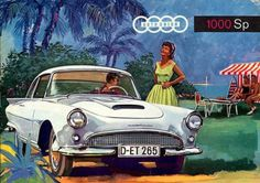 http://chicerman.com  carsthatnevermadeit:  Auto Union 1000Sp Coupe 1958/1960 by Baur and and Carrozzeria Fissore. There were two version of the 1000Sp Coupe Europe got a Baur designed and built coupe while in Latin America the Argentinian IASFe (Industrias Automotriz de Santa Fe) made a version designed by Carrozzeria Fissore with a more squared-off roof-line and louvres in the front fenders. Both cars featured Thunderbird-esque circular tale lights  #cars