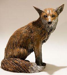 Nick Mackman clay animal fox sitting