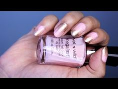 Easy Gradient Nails: Baby Pink & Gold - http://www.nailtech6.com/easy-gradient-nails-baby-pink-gold/