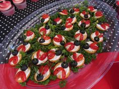 Appetizers from a Ladybug Party #ladybug #appetizers