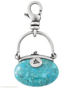 I wear my Silpada charms to my Tiffany & Co charm bracelets (Www.mysilpada.com/bri.evans) #Trendsetter #Handbag #Charm. Compressed Stabilized #Turquoise, #Sterling #Silver. #Silpada #Jewelry (While supplies last!)