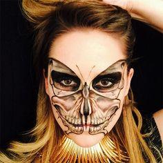 Zombie Princess: Makeup Artists Paints Death Themed Faces Looks Halloween, Halloween Face Makeup, Gothic Halloween, Zombie Princess, Princess Makeup, Horror Make-up, Sugar Skull Makeup, Theatrical Makeup, Special Effects Makeup