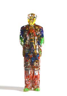 Title: Mao Debout Action Artist: Alben #gallerynine5 #Alben #Accumulation #sculpture #resin #mixedmedia #Mao