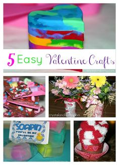5 Easy Valentine Crafts