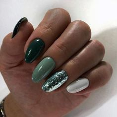 Perhaps you have discovered your nails lack of some modern nail art? Sure, recently, many girls personalize their nails with lovely … Almond Acrylic Nails, Cute Acrylic Nails, Cute Nails, Pretty Nails, Almond Nails, Acrylic Art, Acrylic Nails Green, Hair And Nails, My Nails