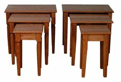 Amish Nesting Tables Let these shaker style tables save you space. Stack them neatly when not in use.