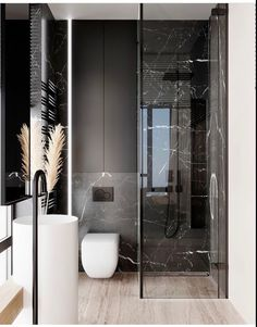 Space Saving Toilet Design for Small Bathroom - polat kos Bathroom Design Luxury, Bathroom Layout, Modern Bathroom Design, Home Interior Design, Bathroom Ideas, Modern Toilet Design, Interior Design Toilet, Interior Design Instagram, Luxury Interior