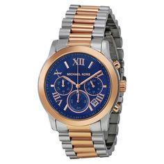 $233 Michael Kors Women's MK6156 Cooper Round Two-tone Bracelet Watch