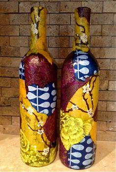 Two Matching Wine Bottle Lights, Upcycled Wine Bottles, Wine Bottle Lamp, Lit Wine Bottle, Unique Lamps, Decorative Wine Bottle on Etsy, $75.00