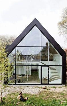 Beautiful windows - Danish House Architects - Tiny Garden Cottage - Alice World Architecture Windows, Architecture Design Concept, Architecture Résidentielle, Futuristic Architecture, Contemporary Architecture, Contemporary Houses, Sustainable Architecture, Beautiful Architecture, Modern Barn House