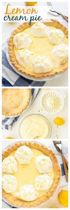 The BEST Lemon Cream Pie you will ever make!  Original recipe from my Grandma that has been in our family 50 years. Luscious, creamy, and made entirely from scratch. No lemon pie tastes better! Recipe at www.wellplated.com @wellplated