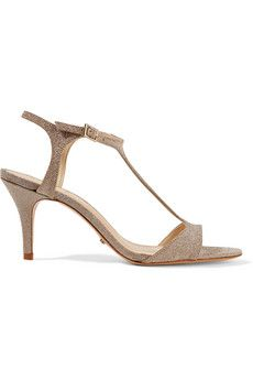 Schutz Florine glittered leather sandals | THE OUTNET