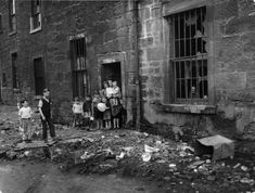Tenement back door in the Gorbals, Glasgow, × Gorbals Glasgow, The Gorbals, Women In History, British History, Photos Du, Old Photos, Man Made Environment, Glasgow Scotland, Scotland Travel