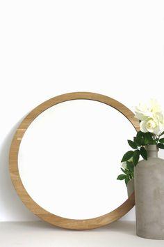 Items similar to CLEAR MIRROR // Medium round mirror // Decorative Vanity mirror // Natural style wooden mirror // Wooden round mirror // Rustic boho style on Etsy White Oak Wood, Dark Wood, Rustic Mirrors, Decorative Mirrors, Round Mirrors, Decorating Your Home, Natural Wood, Boho Fashion, Vanity