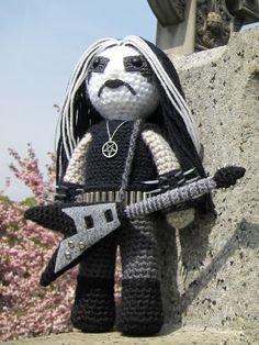 black metal crochet
