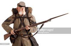 Photo : American Civil War Confederate Soldier.
