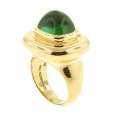 Tiffany & Co. Paloma Picasso Green Cabachon Tourmaline Ring thumbnail 1