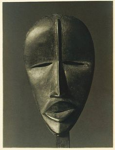 Dan Mask from Ivory Coast / Côte d'Ivoire , photograph by Charles Sheeler, ca. 1918. Gelatin silver print