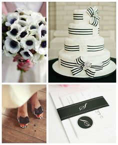 Loving this traditional black and white wedding inspiration!