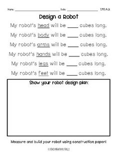 |First Grade| Non-Standard Measurement Packet: Measuring & Ordering by Length