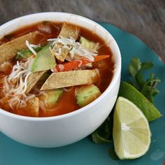 Chicken Tortilla Soup Recipe on Yummly Mexican Food Recipes, Soup Recipes, Cooking Recipes, Healthy Recipes, Cooking Ideas, Drink Recipes, Chicken Recipes, Food Ideas, Chicken Tortilla Soup