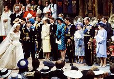 Wedding of HRH The Prince Andrew to Sarah Ferguson (The Duke and Duchess of York). July 1986. #royalty