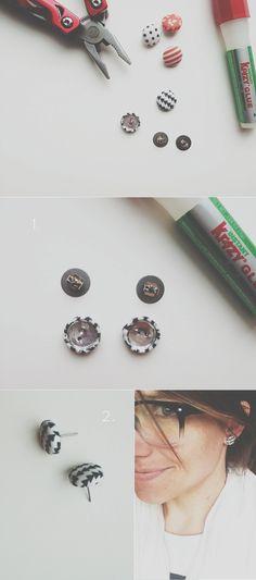 Idées de DIY bijoux (boucles d'oreilles, colliers, sautoirs, bracelets, bagues, broches ..)