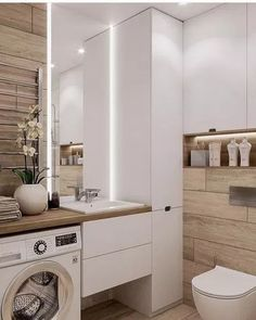Great DIY renovations, and makeover tips including organization and storage solutions for large and small bathroom in your house. Small Bathroom Interior, Bathroom Spa, Bathroom Design Small, Laundry In Bathroom, Modern Bathroom, Bathroom Storage, Bedroom Small, Bathroom Vanities, Small Rooms