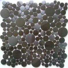 ExoTiles - Z017 Round Stainless Steel Mosaic Tiles, $39.00 (http://www.exotiles.com.au/z017-round-stainless-steel-mosaic-tiles/)
