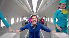 S7 Airlines   OK Go, Upside down & Inside Out (And today's announcement about gravitational waves is just poetic.)