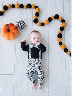 Personnalisé Première Halloween Bébé Ange Sleepsuit premier Halloween Baby Outfit 2
