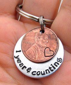 Anniversary Gift Personalized KeyChain by FiredUpLadiesHammer