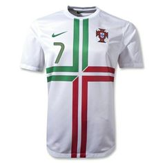 5ab0eeb8a Nike Men s Portugal Away Jersey White Pine