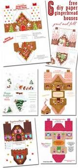 Small Ginger Bread House Template by the36thavenue.com