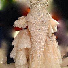 Royal Cinco Swarovski  and beads wedding dress