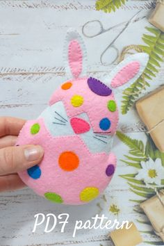 Easter bunny pattern, easter basket stuffers, felt bunny, easter decor, easter gifts, felt rabbit pdf pattern, easter felt egg, digital, diy