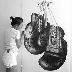 Hand drawn boxing gloves by CJ Hendry - Pen on Paper http://www.thecoolhunter.net/article/detail/2280/new-artworks-by-cj-hendry--pen-on-paper