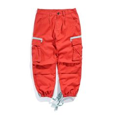 Buy the Men's jogger fashion cargo pants pockets bandages or other streetwear items at WOODDEERS - Buyer protection. Hip Hop Shop, Baggy Cargo Pants, Hip Hop Outfits, Mens Joggers, Parachute Pants, Street Wear, Nyc, Clothes, Products