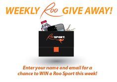 Every week, we have a drawing for one lucky RooSport follower to win a FREE RooSport (We even cover shipping!)    To enter, simply visit my blog:  http://www.TheRooSport.com/    Do you have a few RooSports yet?  If not, now's your chance to win.  Enter our weekly giveaway today!