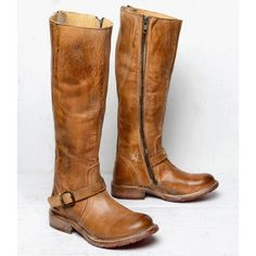 GLAYE - Distressed Leather Womens Riding Boot