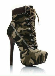 Camo high heels for radical activities!:- Camo high heels for radical activities!: Camo high heels for radical activities! Camo High Heels, High Heel Boots, Heeled Boots, Bootie Boots, Shoe Boots, Ankle Boots, Ugg Boots, Camo Boots, Stiletto Boots