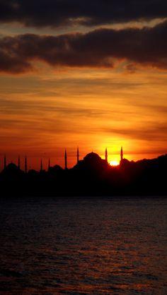 Sunset in Istanbul, Turkey...